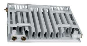 вид панельного радиатора сзади