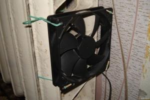 электрический вентилятор на батарее