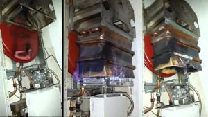 Der Temperatursensor für den Kessel