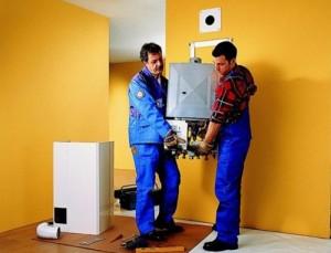 монтаж настенного газового котла в частном доме