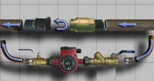 байпас с клапаном для систем отопления