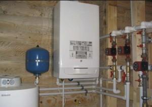 газовый котел отопления в доме