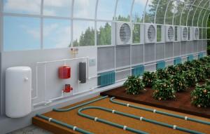индукционное электрическое отопление в теплице