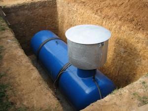 газгольдер для отопления газом