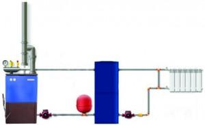 схема системы отопления с теплоаккумулятором