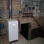 установленный напольный газовый котел сиберия