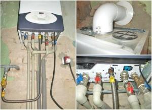 подключение настенного газового котла
