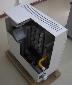 парапетный газовый котел внутри
