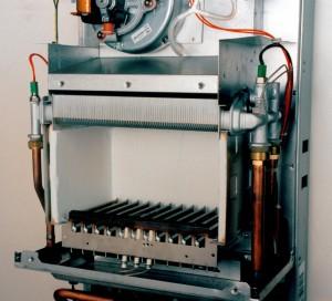 газовый котел отопления внутри