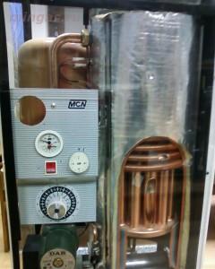 напольной газовой котел со стальным теплообменником
