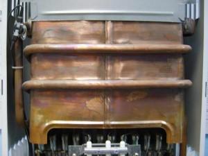 стальной теплообменник напольного газового котла