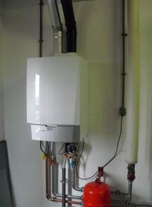 установленный настенный конденсационный котел