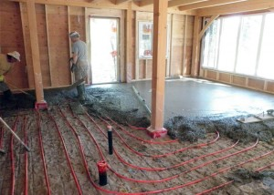теплый пол с цементной стяжкой