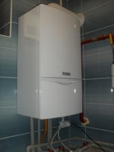 турбированный одноконтурный газовый котел в доме