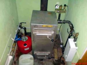 отопление дома самодельный твердотопливным котлом