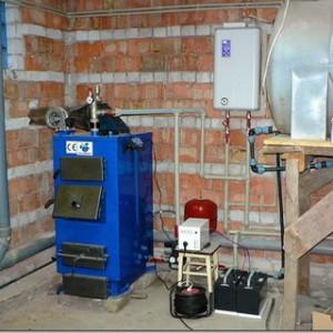 твердотопливный и электрический котел в одной системе отопления