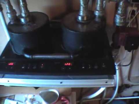 Отопление с помощью индукционной плиты своими руками