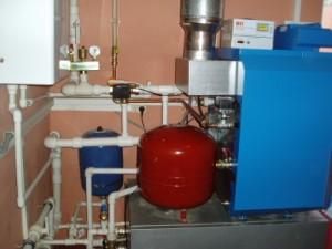 установка чугунного газового котла