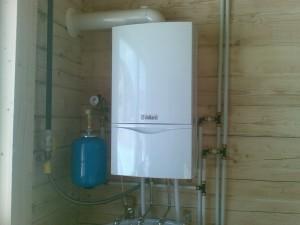 отопление газово-электрическим котлом