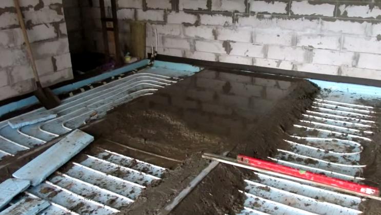 Как сделать теплый водяной пол в гараже