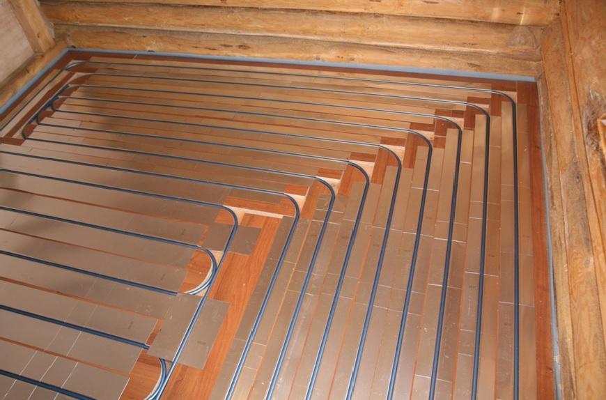 Теплый пол своими руками водяной в деревянном доме видео