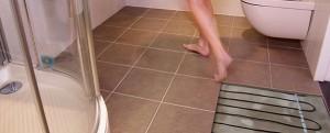 теплый пол в ванной под плитку