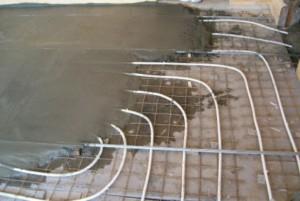 бетонная стяжка водяного теплого пола