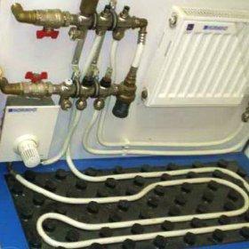 теплый пол с радиатором отопления