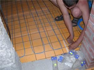 монтаж электро пола в бане