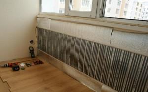 пленочный теплый пол на стене