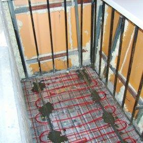монтаж пола на балконе