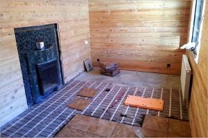 электро теплый пол в бане