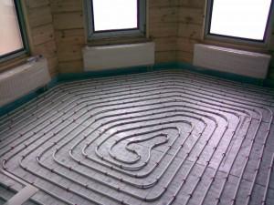 водяной пол с радиаторами отопления