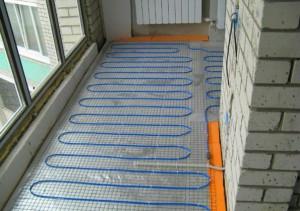 кабельный пол на балконе