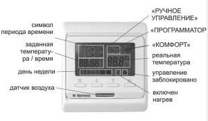 модель программируемого термостата